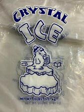 Commercial Crystal 20 Lb Lbs Plastic Ice Bags With Drawstring High Quality