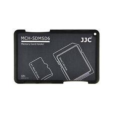 JJC MCH-SDMSD6GR Credit Card Size Memory Card Holder for 2x SD &4x Micro SD card