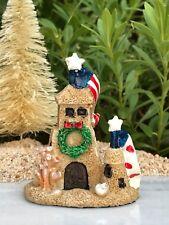 Miniature Dollhouse FAIRY GARDEN ~ BEACH Sea CHRISTMAS Sand Castle ~ NEW