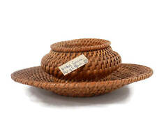 South African Basket Natal Province 1982 Lidded Woven Basket and Tray