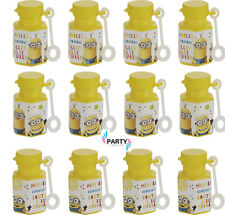 Minions Party Supplies Favours BUBBLES Pack Of 12