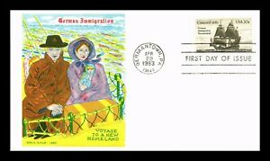 DR JIM STAMPS US GERMAN IMMIGRATION DORIS GOLD UNSEALED FIRST DAY COVER
