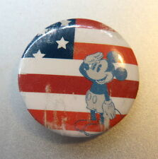 MICKEY MOUSE SALUTING FLAG Patriotic Disney PIN / BUTTON