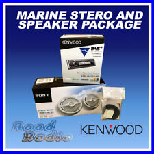 Kenwood KMR-M505DAB With XS-MP1621 Marine Speakers and DAB Aerial