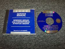 2002 Chrysler Sebring Shop Service Repair Manual DVD Sedan Convertible LX LXi