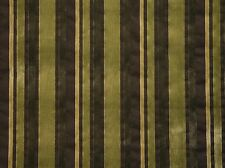 Velvet Marriott Kiwi Striped  upholstery Drapery Sofa Pillow home Fabric by yard