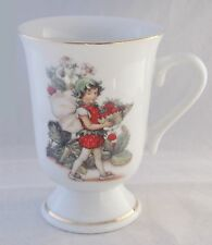 Reutter FLOWER FAIRIES Porcelain Footed Tea or Coffee Mug STRAWBERRY FAIRY