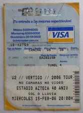 ☪✝★ u2 vertigo concert ticket stade azteca mexico 15.01.2006