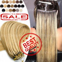 THICK Russian Remy Human Hair Extensions NANO Micro Loop Ring Beads Hair 200S P3
