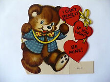 Vintage Stand Up Bear Valentine Vg Condition Early Mid Century Used Signed Sharp
