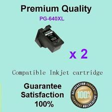 2 x Canon Generic PG-640XL BLACK 640 XL Ink Cartridge Pixma MG2160 MG2260