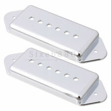 Dogear Pickup Covers For P-90 Guitar Pickup 50mm & 52mm Pole Spacing P90 Silver