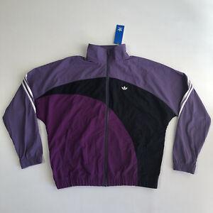 ADIDAS ORIGINALS Off Center Windbreaker Men's LS Jacket Tech Purple FM1579 Sz M