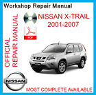 OFFICIAL WORKSHOP MANUAL NISSAN XTRAIL X-TRAIL T30  2001-2007