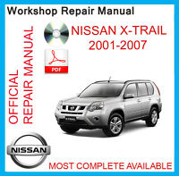 OFFICIAL WORKSHOP MANUAL NISSAN XTRAIL X-TRAIL T30 2001 2002 2003 2004...2007