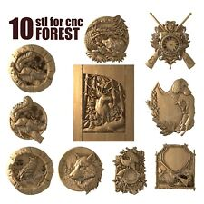 3d stl model cnc router artcam aspire 10 forest collection panno basrelief
