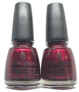 china glaze nail polish Red-y & Willing 1234 vampire n edgy shiny red lacquer
