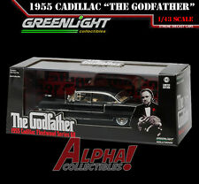 GREENLIGHT 86492 1:43 THE GODFATHER 1955 CADILLAC FLEETWOOD SERIES 60 W/CASE