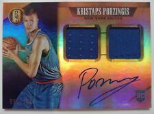 Kristaps Porzingis signed autographed dual-patch #/149 ROOKIE card (RC auto)