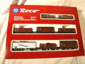 HO Scale Roco 8 Various Railroad Cars, Guterwagen, Goods Wagon Marchandises Cars