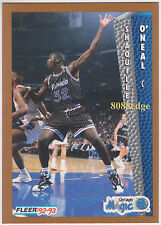 "1992-93 FLEER ROOKIE CARD: SHAQUILLE O'NEAL #401 ""SHAQ"" - MAGIC/LAKERS/HEAT RC"
