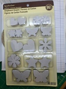 Lot Of Chipboard Shapes & Letters for Crafting. Can be painted and decorated.