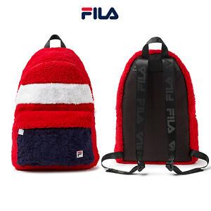 FILA Classic Colour Stylish Sherpa Fleece Hexan Adjustable Backpack Rucksack