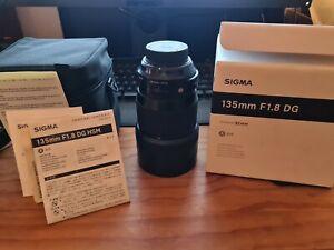 Sigma 135mm f1.8 Dg Hsm Art Lens Nikon F Mount used