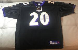 NWT Authentic Sewn Reebok Baltimore Ravens Ed Reed alternative jersey 52 XL