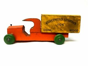 Vintage Wood Truck, Consumers Company: Ice, Coal, Wood