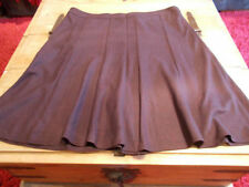 Papaya Polyester Calf Length Plus Size Skirts for Women
