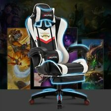 Gaming Chair Swivel Reclining Seat Wear Resistant Leather For Home Office Gamer