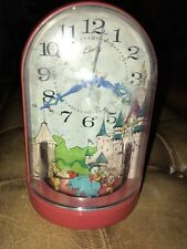 Vintage Mickey Mouse Wind Up Musical Clock By Bradley See Description