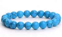 8mm Natural Stone Turquoise Handmade Healing Stretch Bracelet Unisex N38