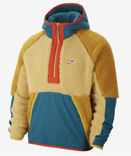 Nike Sportswear 1/2 Zip Sherpa Fleece Jacket Mens Size X-Large BV3766 886 XL