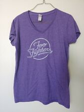 Women's Purple Foo Fighters Band T-shirt Size Xl