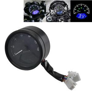 Digital Motorcycle Speedometer Tachometer Cafe Racer Moto Odometer Waterproof