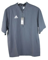 Adidas Team Iconic SS 1/4 Zip Cage Jacket Gray Men's M 653TA NWT (MSRP $65)