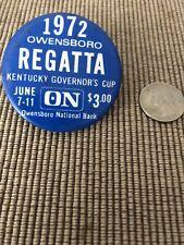 Owensboro Regatta Governor Cup Unlimited Hydroplane Pin button Seattle Seafair