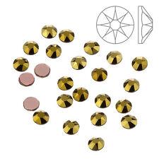 Swarovski 2078 Hotfix Flatback Crystals Dorado SS16 - Pack of 24 (K63/13)