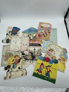 Vintage Lot of 10 Birthday Cards MCM
