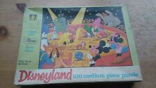 Vintage 1960's Jigsaw Puzzle- Disneyland -Fun at the Circus