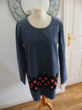 COMME DES GARCONS HOMME PLUS DRESS TOP BNWT SIZE SMALL BLUE CORD POM POMS