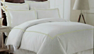 Italian Collection 600 Thread Count 3-Piece Double Marrow Full/Qu Duvet Set sand