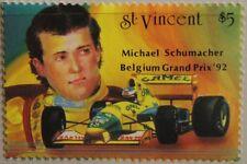 ST VINCENT 1992 2305 Block 260 Michael Schumacher Formel 1 Driver Car Auto MNH