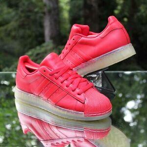 Adidas Superstar CLR Men's 6.5 Vivid Red Leather Q23000