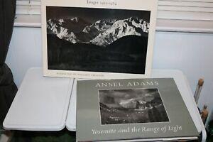 2 Ansel Adams SIGNED Photography Books - Yosemite The Range of Light 1923-1974