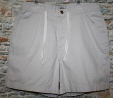 Sonoma Womens 12 Shorts BEIGE KHAKI Flat Front Cotton Button Tie Cargo Pocket
