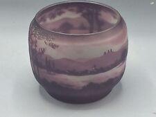 Vase Art Nouveau 1900 Dégagé A Acide Décor Lacustre Signé D'Argental - Gallé