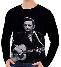 Johnny Cash Herren Langarm T-Shirt Tee wa2 aao20165